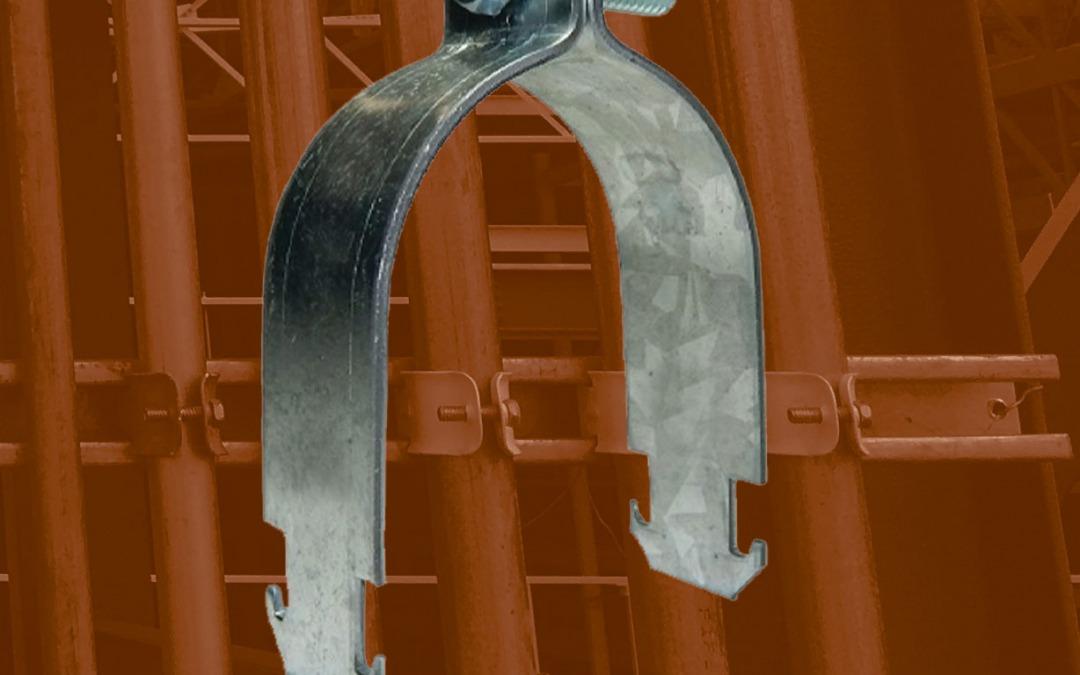 Abrazadera Unicanal 4 x 2 de acero