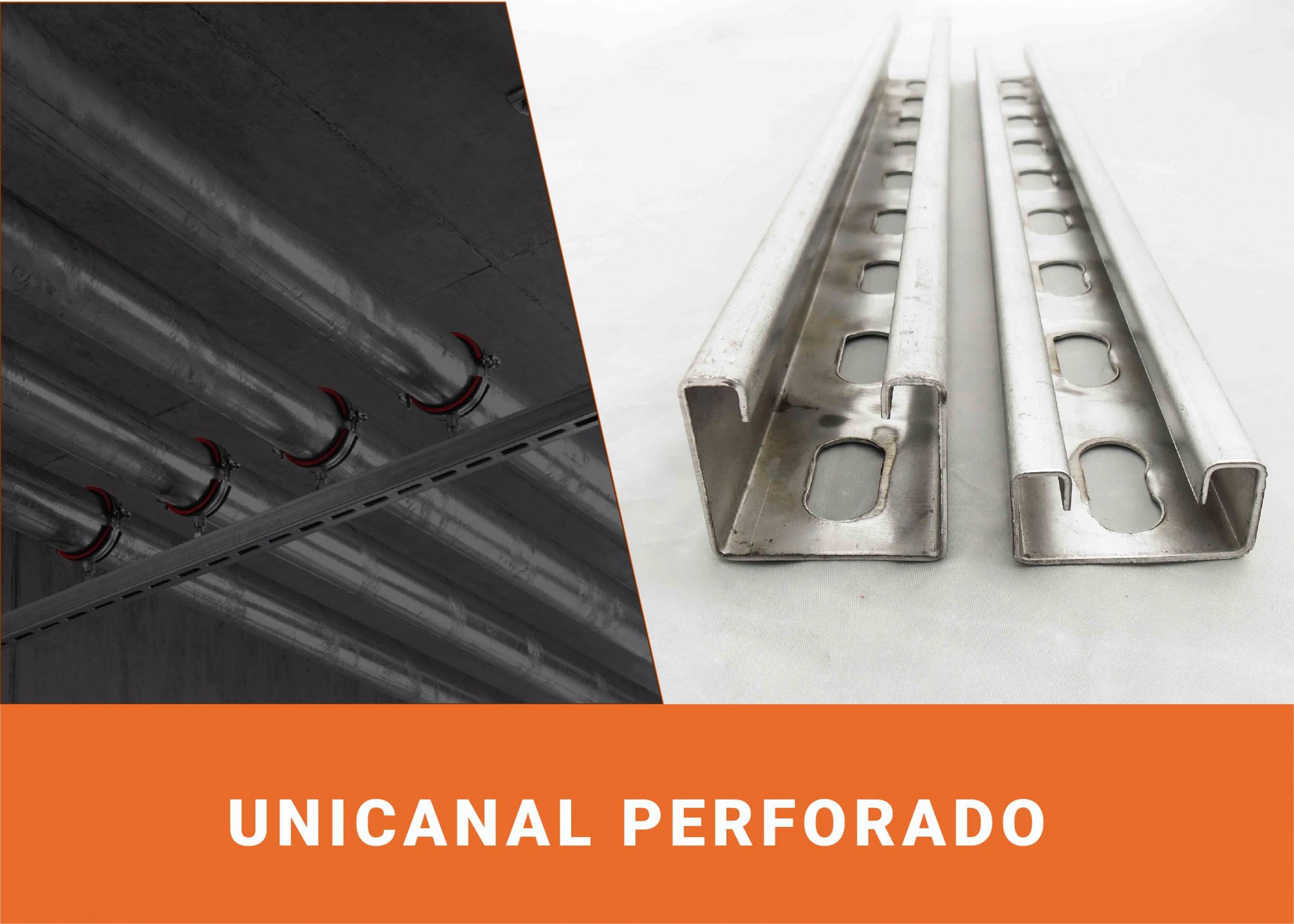 Unicanal perforado 4x4/4x2 galvanizado Image